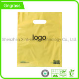 Custom Logo Design Printed Biodegradable Carrier Punch Hole Handle Shopping Plastic Die Cut Bag