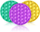 Amazon Hot Sale Silicone Anxiety Relief Stress Reliever Autism Toy Push Pop Bubble Fidget Sensory Toy