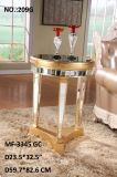 2017 Antique Gold & Silver Side Table