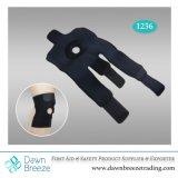 Open Patella Black Neoprene Knee Support with Adjustable Straps