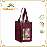 Large Four Compartment Non Woven Fabric Wine Tote Bag
