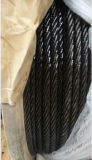 Galvanized Steel Wire Rope 6X7+FC Coated Black Oil Outside