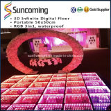 Party, DJ Lighting 3D Mirror Time Tunnel LED Dance Floor