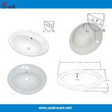 Wholesale Project Bathroom Ceramic Oval Washbasin with Cupc (SN043)