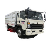 140HP LHD Rhd Sino Truck HOWO Sweeper Truck 7000 Liters for Garbage 3000 Liters Clean Washing Water