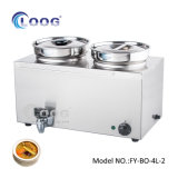 Best Quality Professional Factory Stainless Steel Sauce Warming Desktop Food Warmer Restaurant Equipment Electric Portable Bain Marie Heater Price with Ce