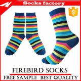 Wholesale Colorful Stripe Dress Socks with Custom Sock