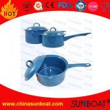 Carbon Steel 2qt Enamel Saucepot Milk Pot with Lid