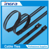 Ladder Type Plastic Coated Stainless Steel Cable Tie for Banding