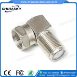 CCTV Female to Male Right Angle Type F Connector (CT5074Z)