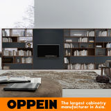 Oppein Black and Wood Grain TV Stand/Cabinets/ Living Room Furniture (TV17-L02)