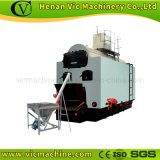 Hot-Water Boiler with Biomass heating