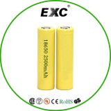 Rechargeable Lithium Ion 18650 Battery 3.7V 2200/2500/2600 mAh for Flashlight, Head Light