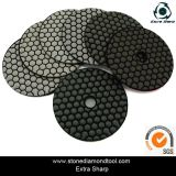 "3"", 4"", 5"", 7"" Velcro Diamond Flexible Resin Dry Polishing Pads"