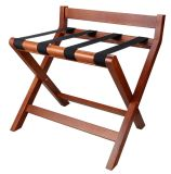 Strong Wooden Luggage Carrier Luggage Rack with Back Bar