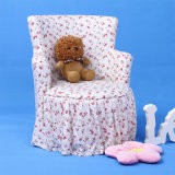 Fashion House Children Chair with Flower Fabric Printing (SF-59)