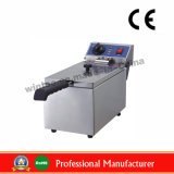 6LTR Electric Stainless Steel Edeep Flat Chicken Fryer with CE (WF-061)