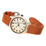 Custom Watches Leather Wood Watch for Ladies Mens