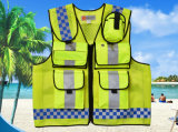 Wholesale Custom Good Quality Reflective Safety Traffic Clothes Men's Vest with Pockets