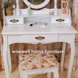 Dressing Table Stool Make-up Hair Nail Drawers Bedroom Desk (W-HY-011)