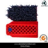 Silicon Carbide Abrasive Frankfurt Wire Brush for Stone with Steel Wire