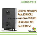 2013 Newest ITX Mini Computer Mini PC Ncomputing with Intel Atom N270 CPU 1GB RAM 8GB SSD Dual COM Port Black Color