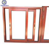 Cheap Single Tempered Glass Aluminium Sliding Window with Shutter