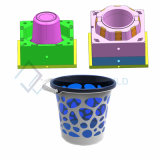 High Quality Plastic Bucket Mould with Handle Plastic Wash Bucket Injection Mould