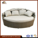 Classic on Sale Rattan Round Bed Garden Furniturefor Outdoor (WF050049)