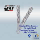 Tungsten Solid Carbide 4 Flute Left-Hand Taper Reamers