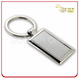 Promotion Gift Pearl Plated Rectangle Metal Key Chain