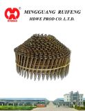 "Round Head Conical Type, 1-1/4"" X 083"", Smooth Shank, Bright, 15 Degree Wire Collated Siding Nails, Coil Nail"