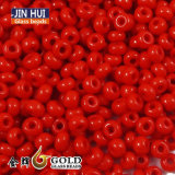 Jin Hui High Quality Opaque Red Color Glass Seed Beads 12/0 Fashion Jewelry