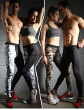 Ladies and Mens Couple Camos Yoga Leggings, Compression Tight Workout Leggings