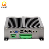 Fanless Dual Core Mini PC X86 Industrial PC Support 3G Moudle RS232 2 LAN