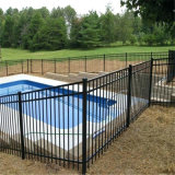 Black Powder Coated Flat Top Aluminum Safety Pool Fence/Removable Temporary Pool Fence Panel
