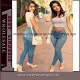 Lady Light Blue Classic High Waist Skinny Jeans (T78614)
