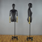 Half Body Female Mannequin with Leather Wrapped