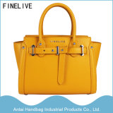 2017 Fashion Yellow PU Leather Designer Women/Lady Handbags at-0006A (label FINELIVE)