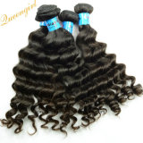 Wholesale Unprocessed Remy Bundles Natural Black Color Loose Curl Hair Weft 9A Indian Virgin Human Hair Product