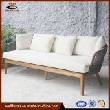 Rope Wood Collection 3 Seat Sofa with Waterproof Cushion Wf0608