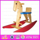 2015 Antique Wooden Rocking Horse Toy, Comfortable Kids Wooden Rocking Horse, Cheap Safe Children Rocking Horse Wholesale Wj276726