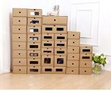 Shoes Box Cardboard Shoes Storage Boxes Ladies Men Children Stackable Plastic Shoe Storage Box
