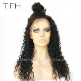 Wholesale Brazilian Virgin Hair Deep Wave 150% Density Human Hair Lace Wig with Baby Hair
