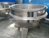 Jacketed Pan|Jacket Steam Kettle Nclinable Jacked Pot with Mixing Function