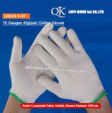 K-87 10 Gauges 45g/Pair Knitted Working Safety Lampshade Cotton Gloves
