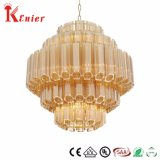China New Products Round White and Gold Wedding Wholesale Wrought Iron Chandelier