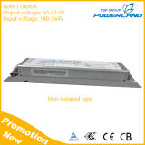 TUV Ce Approval 80W 1100mA Non-Isolated LED Driver with 60-72.5V Output