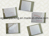 High Quality Soft Feeling White Chamois with Red Silk Screen Print Logo Saw Cutting