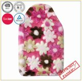 Flower Design PV Plush Cover with Hot Water Bottle